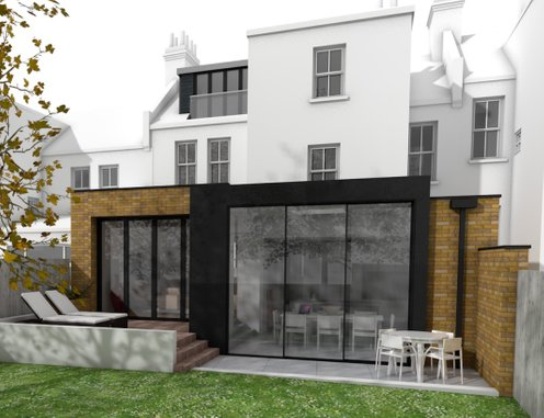 Rear extension to London Edwardian Terrace House